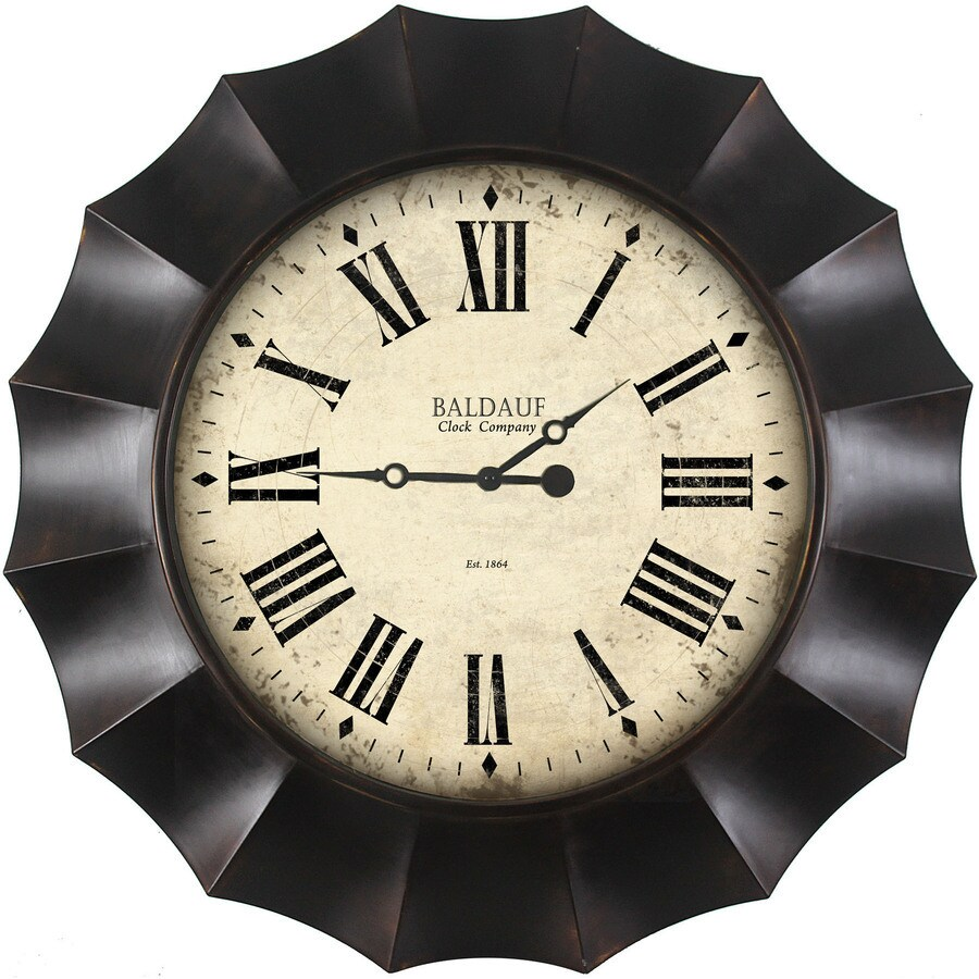 Shop clocks at lowes allen roth analog round indoor wall clock amipublicfo Choice Image