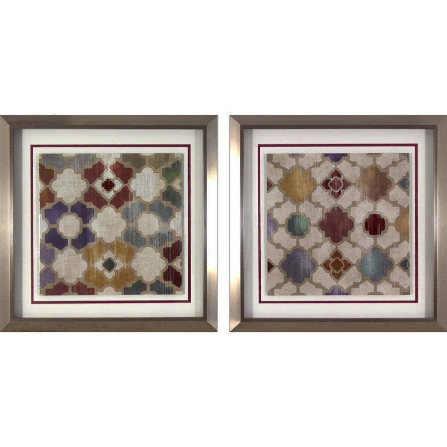 18-in W x 18-in H Abstract Framed Art