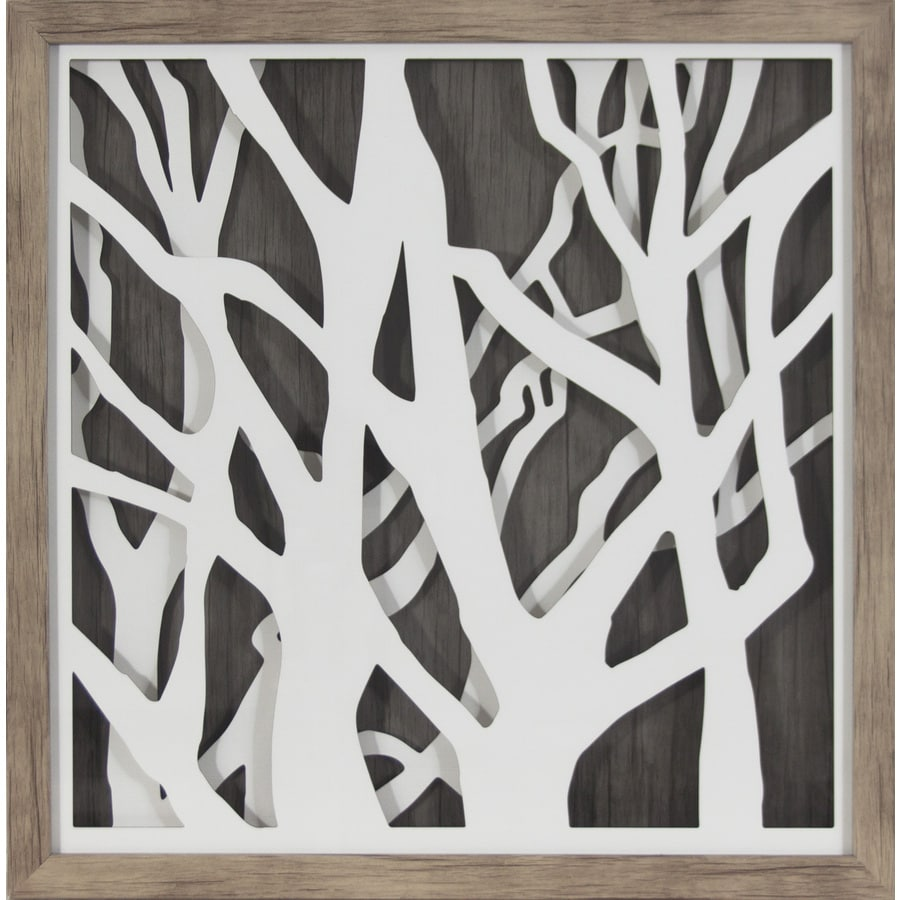 in w x  in h abstract prints wall art: tree scene metal wall art