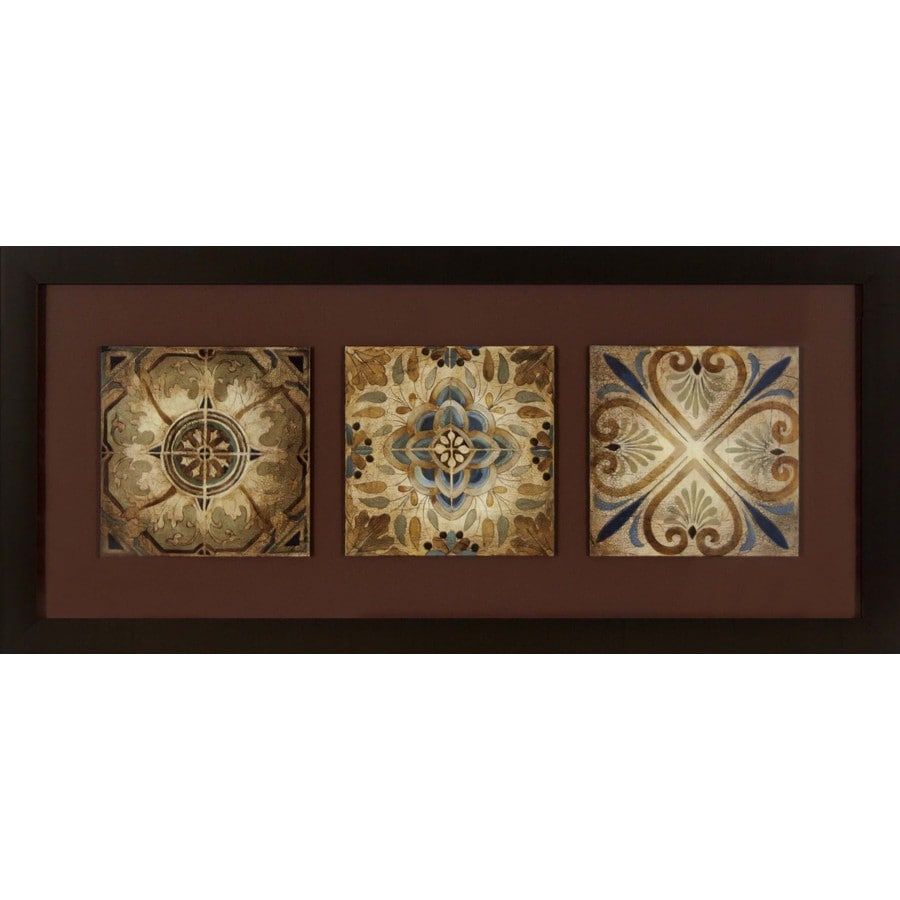 26-in W x 12-in H Framed Abstract Wall Art