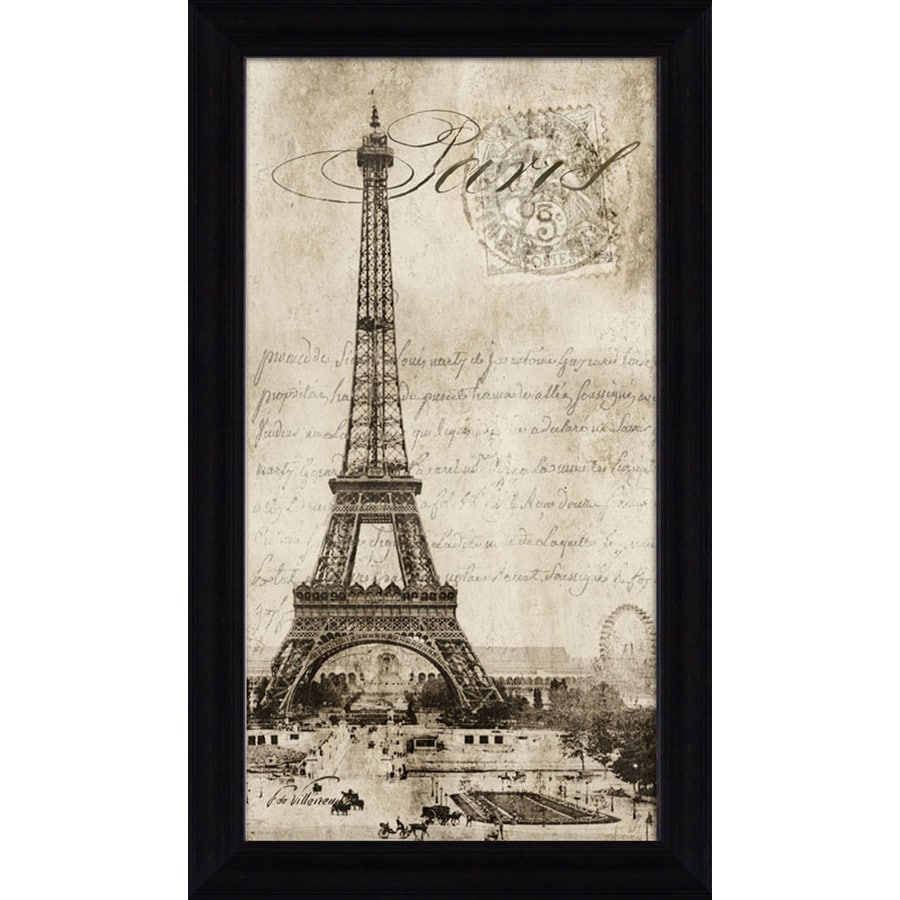 16.5-in W x 28.5-in H Framed Places Wall Art