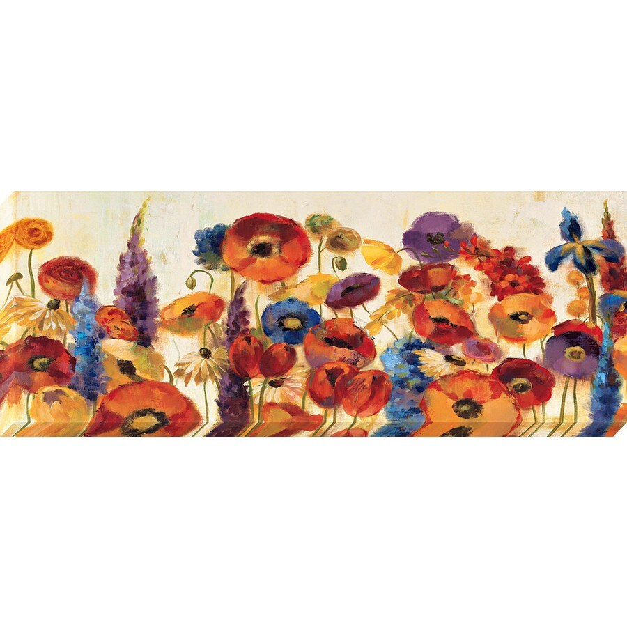37-in W x 14-in H Canvas Floral Wall Art