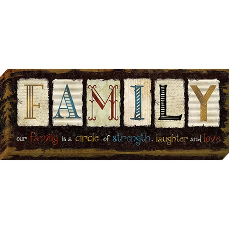 shop 37 in w x 14 in h frameless family canvas print at With kitchen cabinets lowes with canvas inspirational wall art