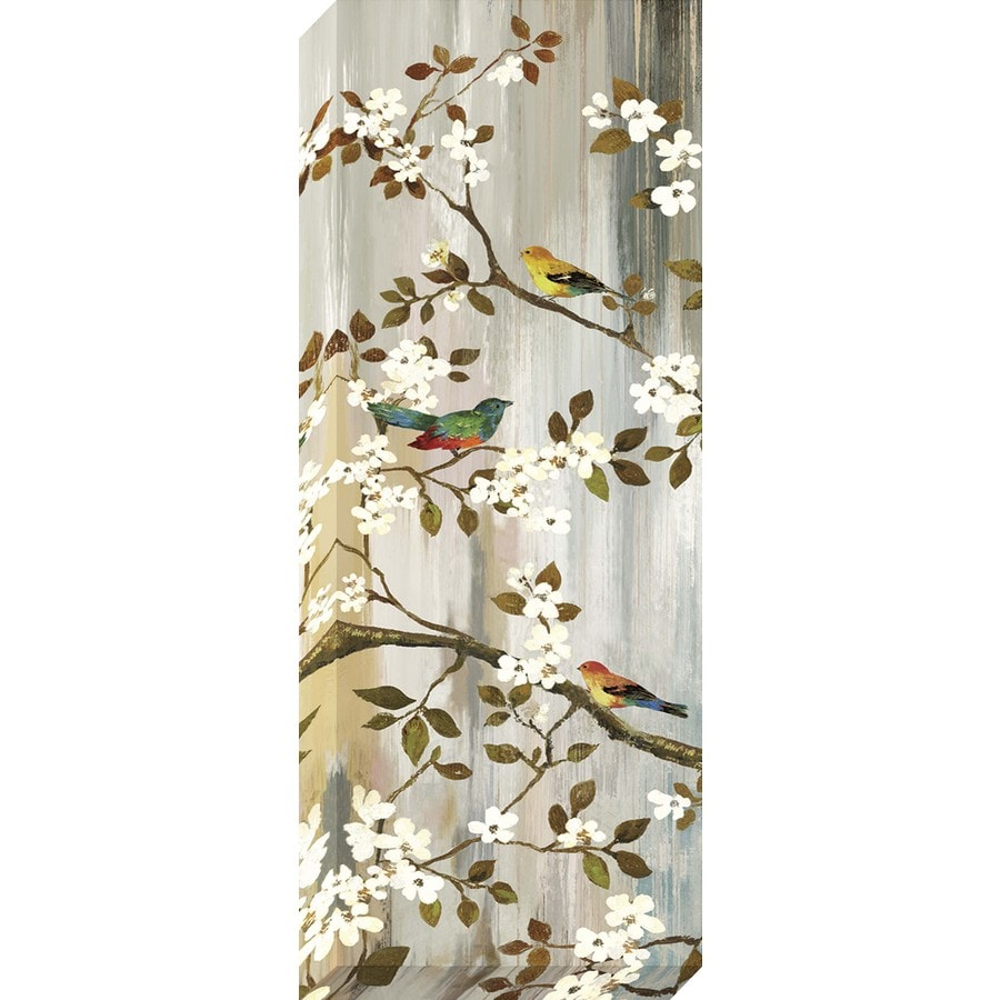 14-in W x 37-in H Canvas Floral Wall Art