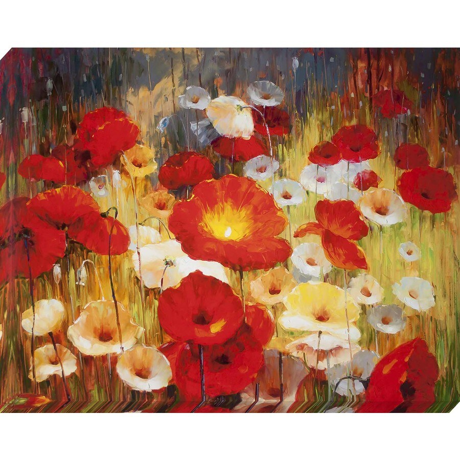 37-in W x 30-in H Canvas Floral Wall Art