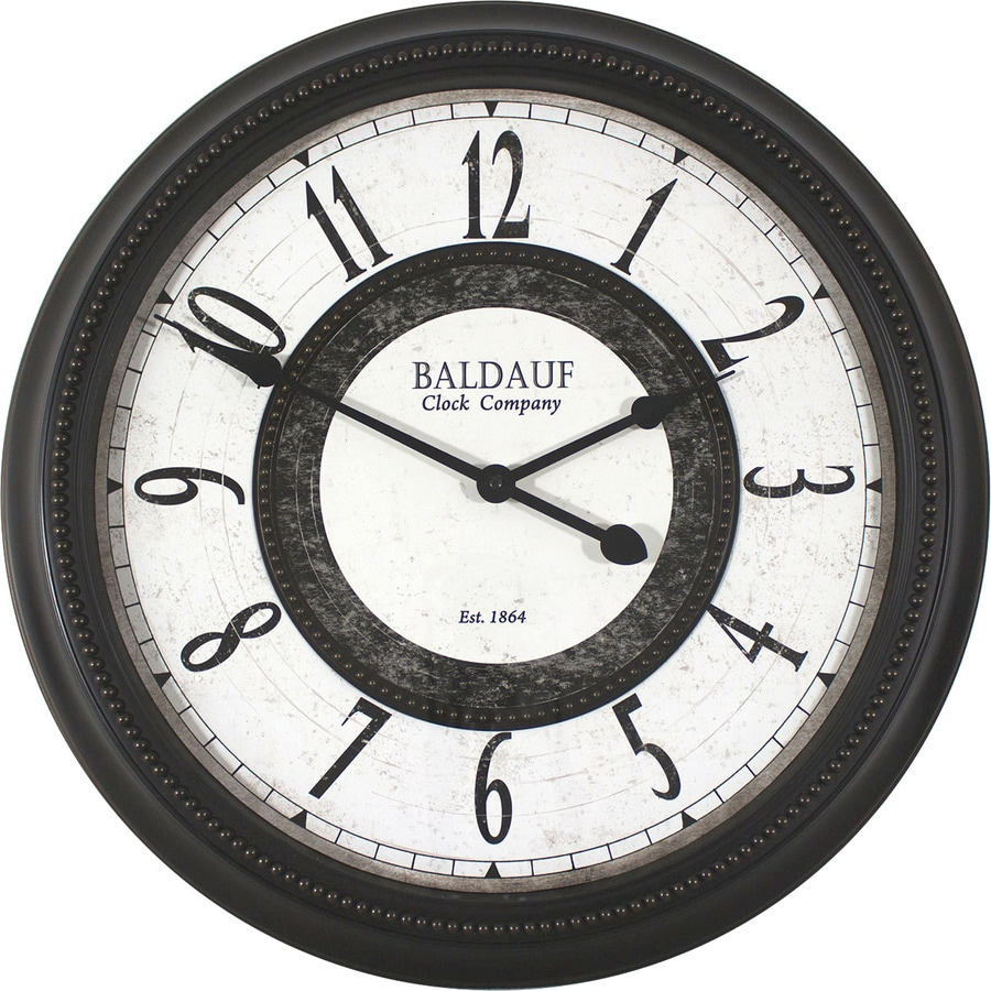 Shop clocks at lowes allen roth analog round indoor wall clock amipublicfo Gallery
