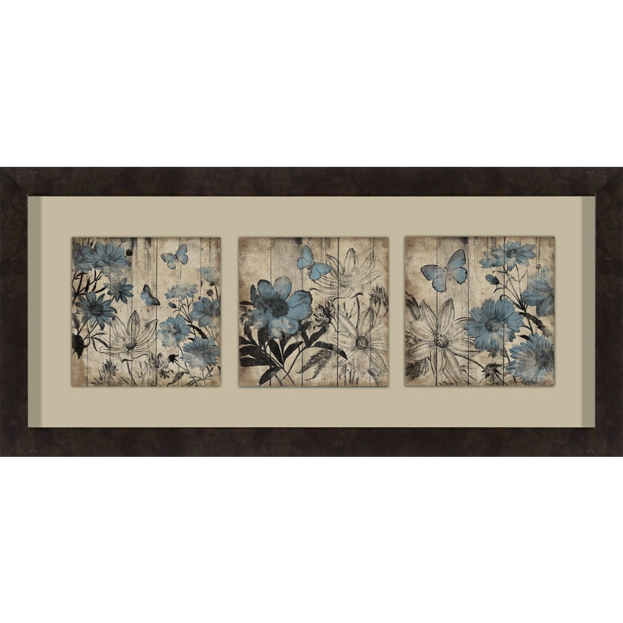 26-in W x 12-in H Framed Floral Wall Art