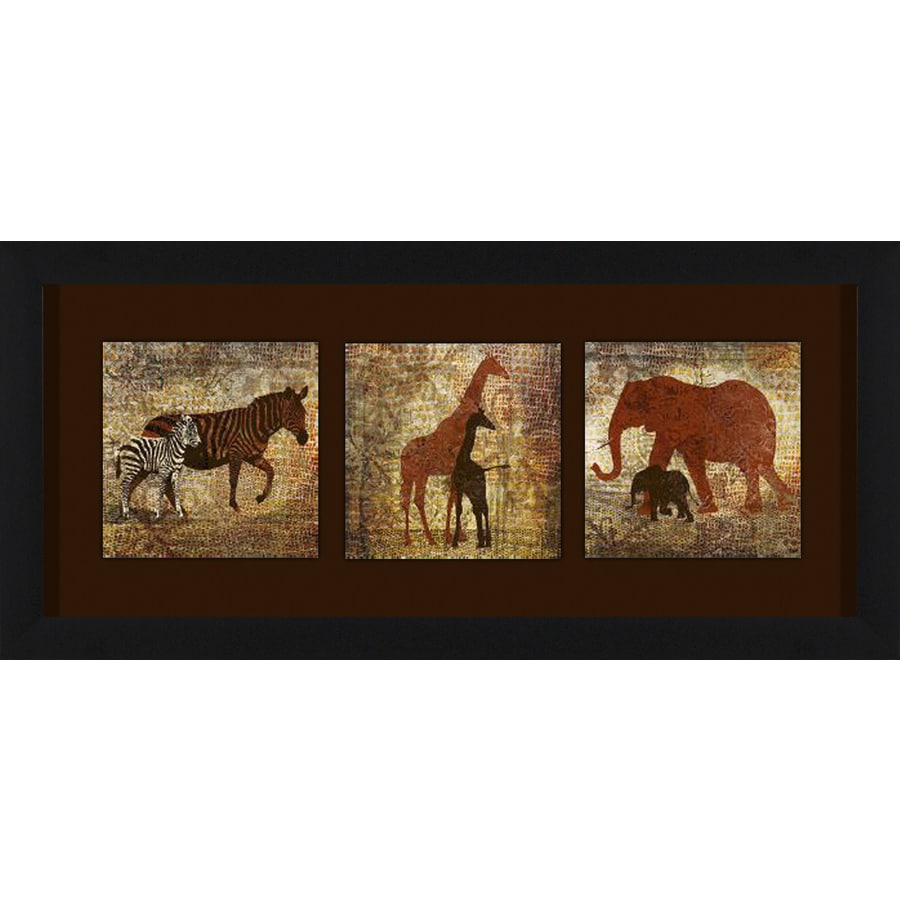 26-in W x 12-in H Framed Animals Wall Art