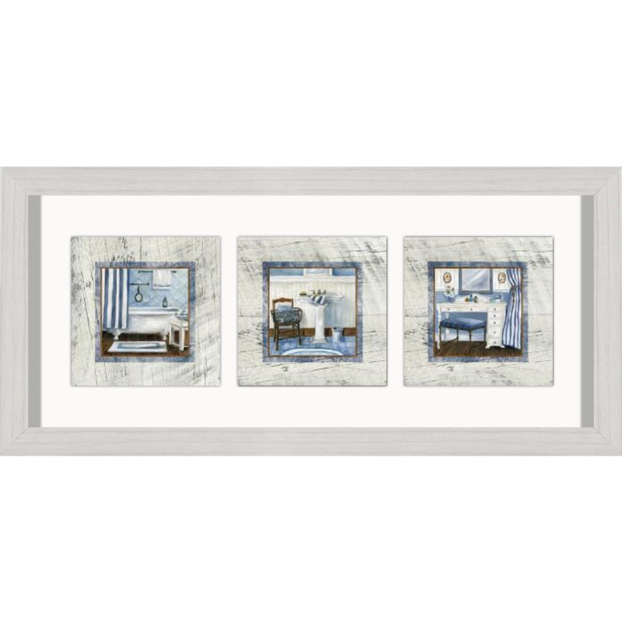 26-in W x 12-in H Framed Bath Wall Art