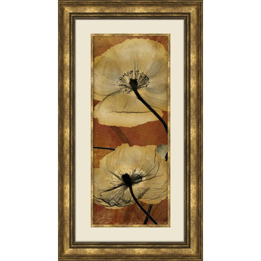 16.5-in W x 28.5-in H Framed Floral Wall Art