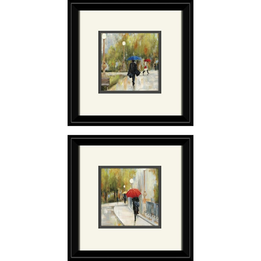 2-Piece 12-in W x 12-in H Framed Figurative Wall Art