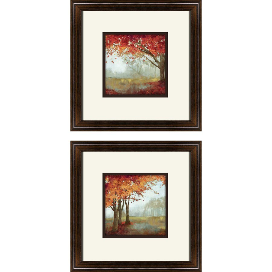2-Piece 12-in W x 12-in H Framed Landscapes Wall Art