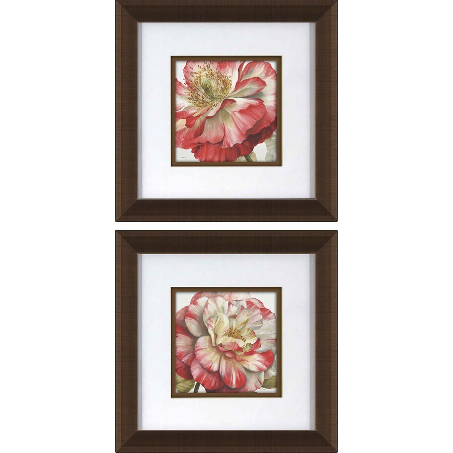 2 Piece 12 In W X 12 In H Framed Floral Wall Art At Lowes Com
