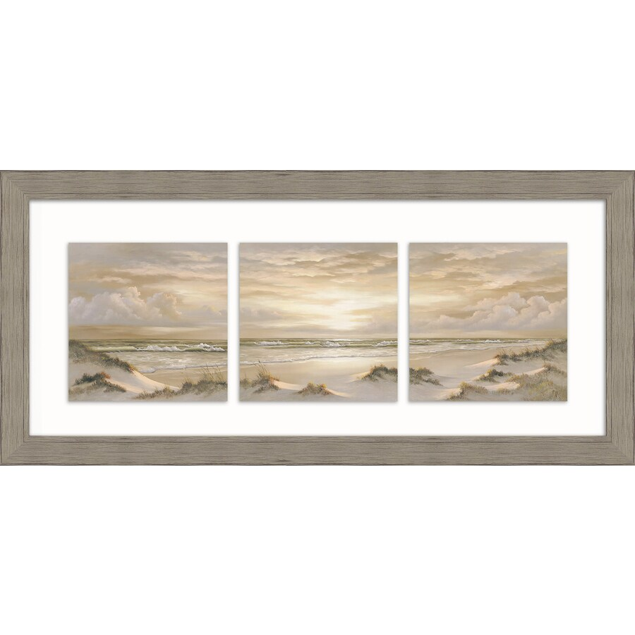 Shop 26 in w x 12 in h framed plastic landscapes print for Kitchen cabinets lowes with wall print art