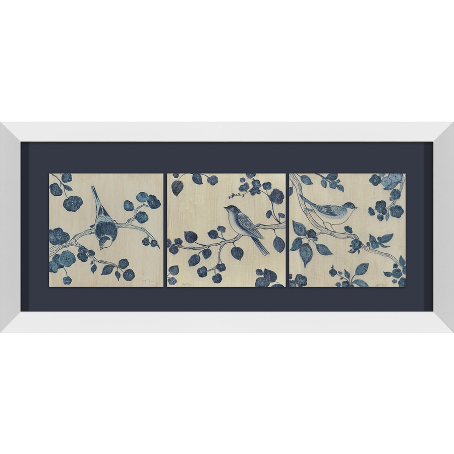 Shop 26 in w x 12 in h framed plastic animals print wall for Kitchen cabinets lowes with wall print art