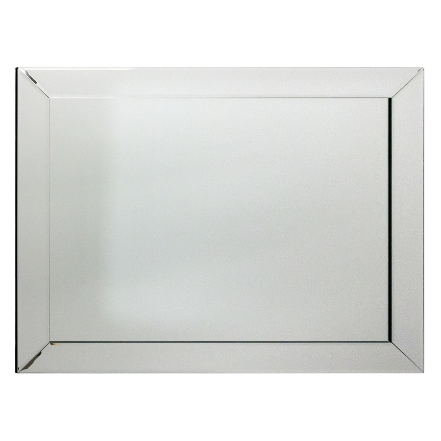 Beveled Wall Mirror shop allen + roth mirrored beveled frameless wall mirror at lowes
