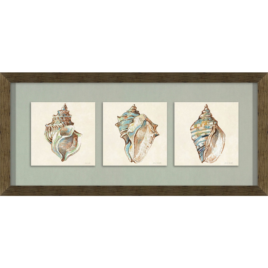 Shop 26 in w x 12 in h framed coastal print at lowescom for Kitchen cabinets lowes with wall print art