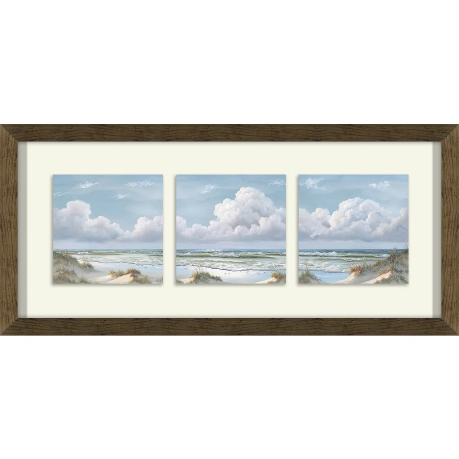 26-in W x 12-in H Framed Plastic Landscapes Prints Wall Art