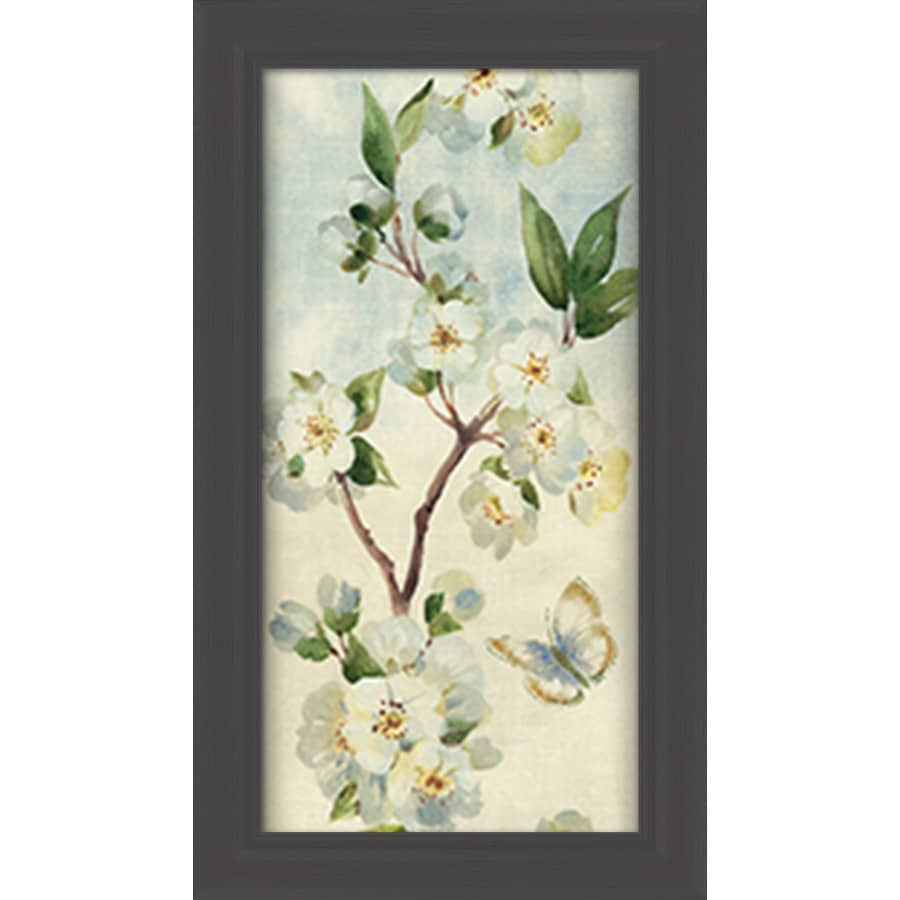 16.5-in W x 28.5-in H Framed Plastic Floral Prints Wall Art