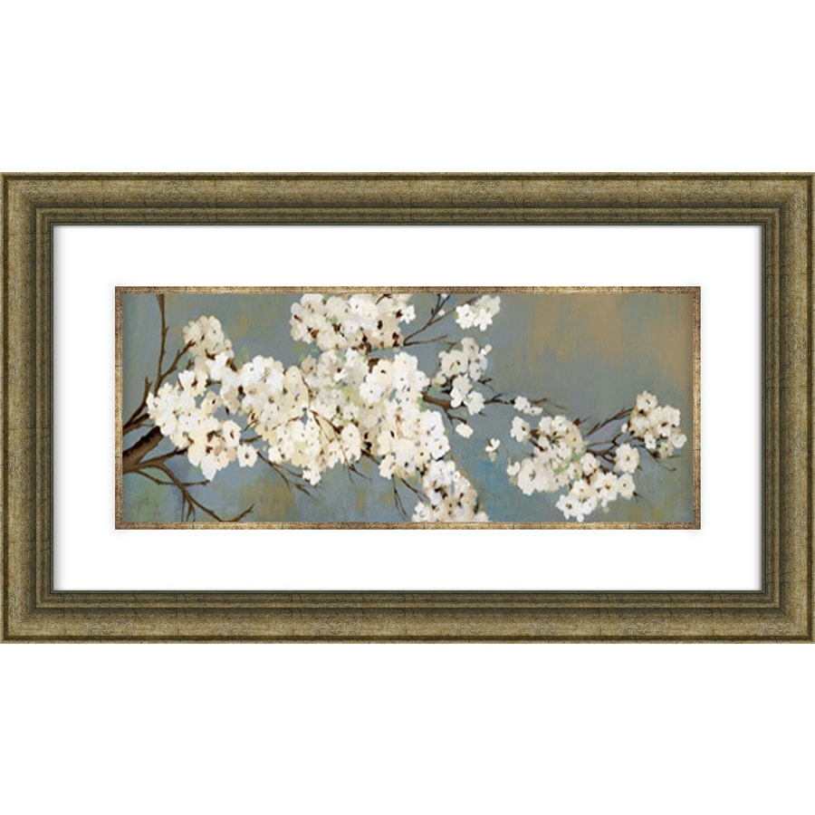 28.5-in W x 16.5-in H Framed Plastic Floral Prints Wall Art