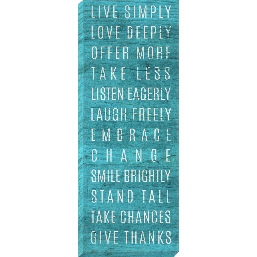 14-in W x 37-in H Frameless Canvas Inspirational Prints Wall Art