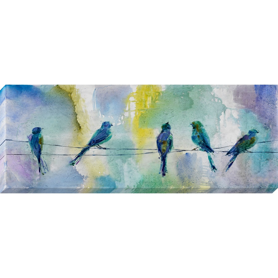 Shop 37 in w x 14 in h frameless animals canvas print at for Kitchen cabinets lowes with wall print art