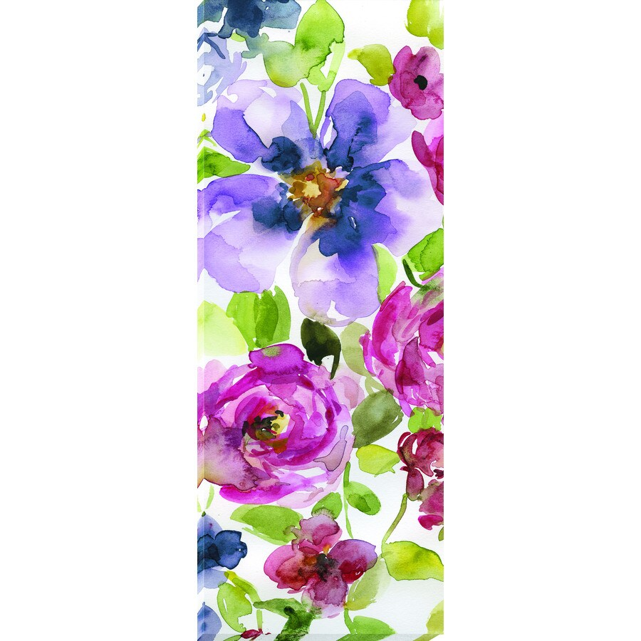 14-in W x 37-in H Frameless Canvas Floral Prints Wall Art