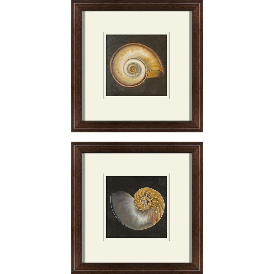 2-Piece 12-in W x 12-in H Framed Plastic Abstract Prints Wall Art