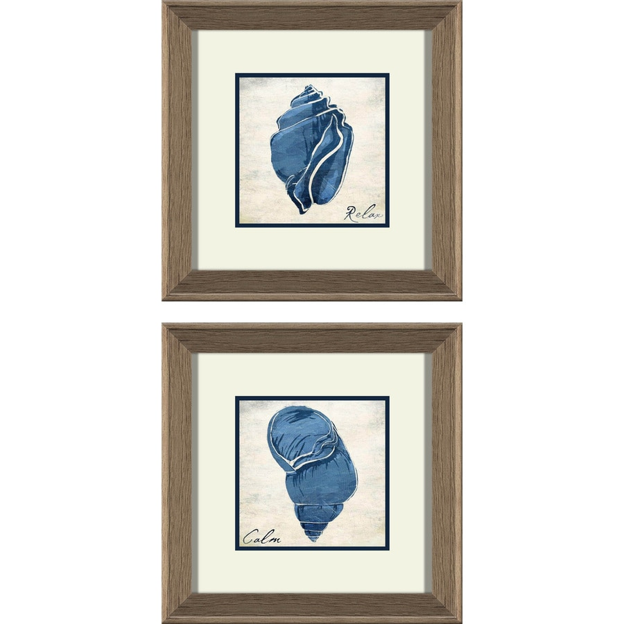 2-Piece 12-in W x 12-in H Framed Plastic Figurative Prints Wall Art