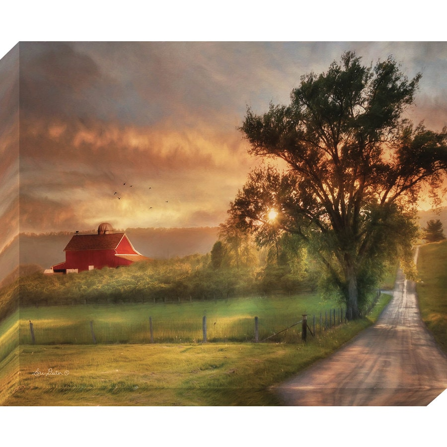 37-in W x 30-in H Frameless Canvas Country Prints Wall Art