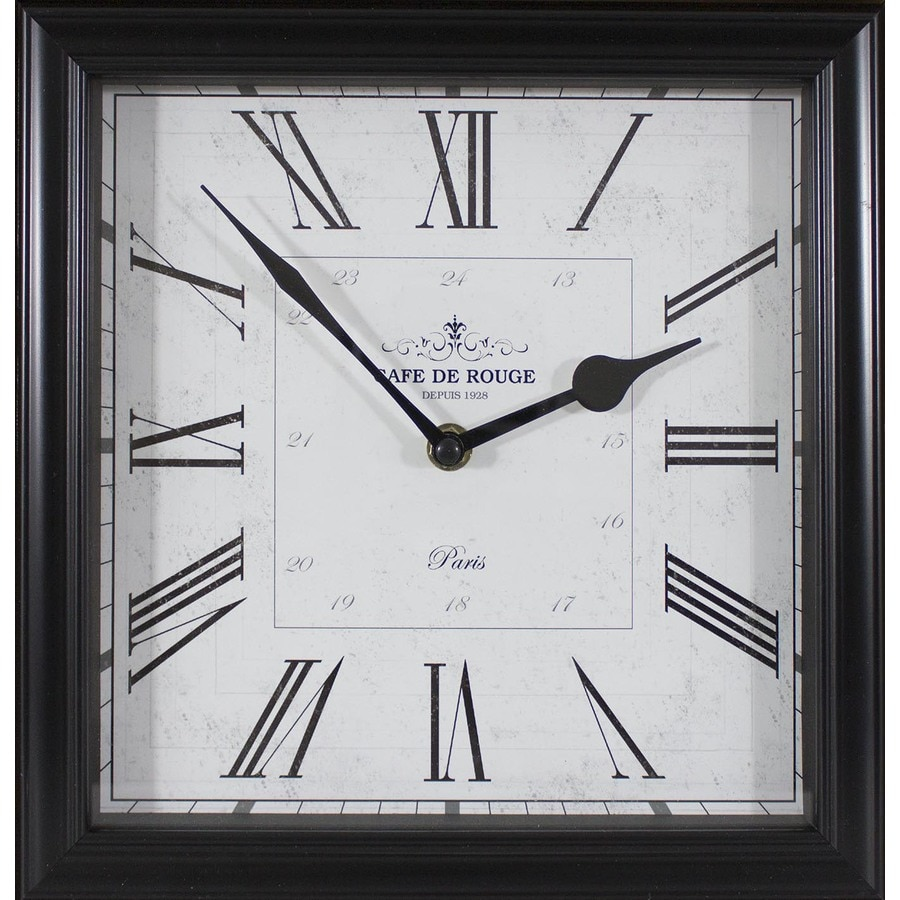 Analog Square Indoor Tabletop Standard Clock