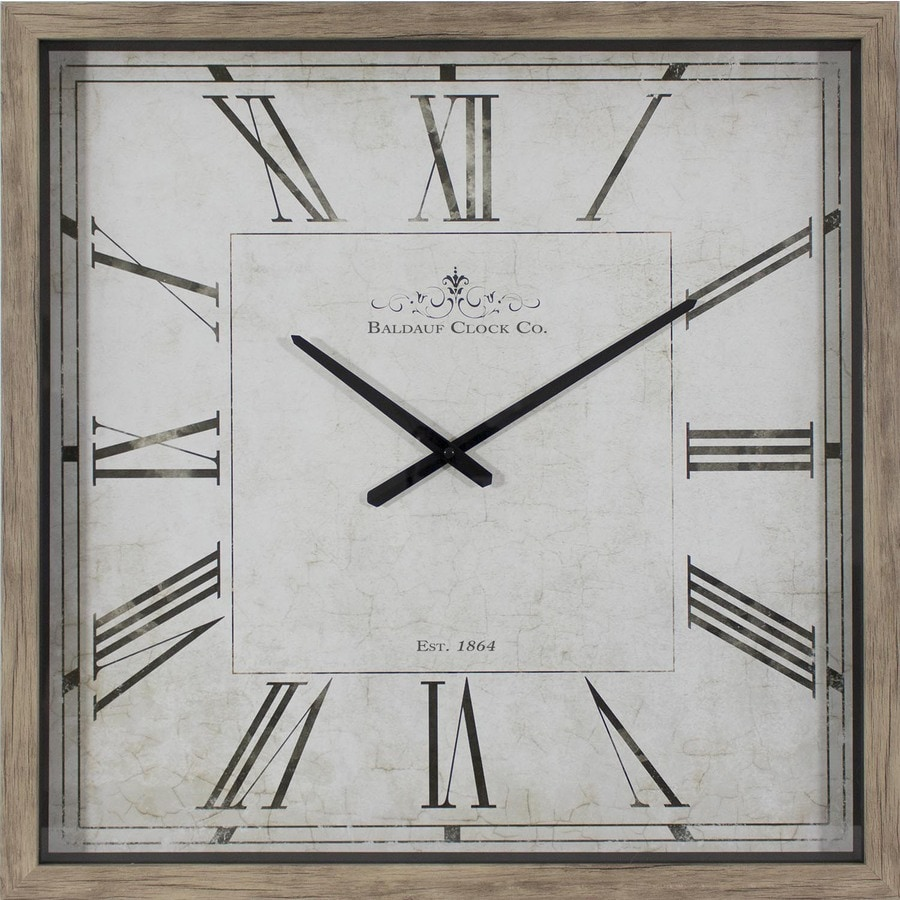 Analog Square Indoor Wall Standard Clock