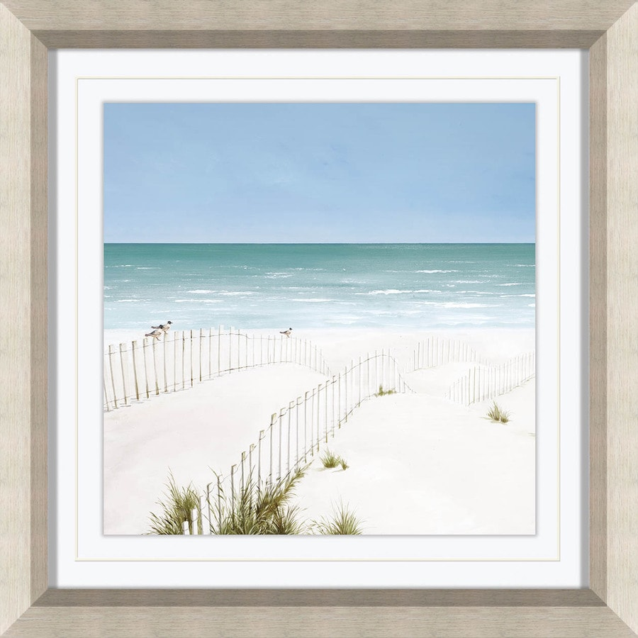 17-in W x 17-in H Framed Coastal Print Wall Art