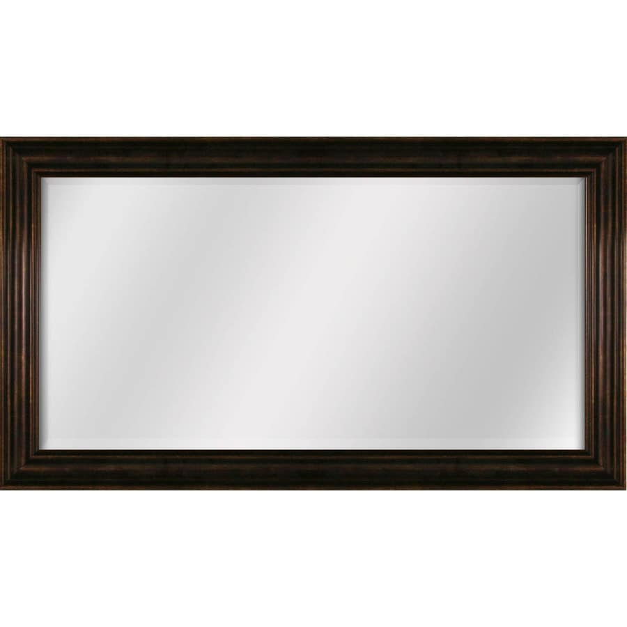 Shop style selections bronze beveled wall mirror at for Long framed mirror