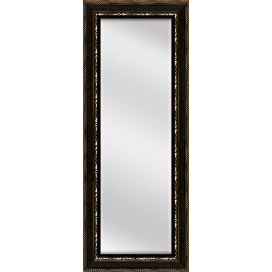 allen + roth 17.3-in x 53.2-in Oil Rubbed Bronze Beveled Rectangle Framed Traditional Wall Mirror