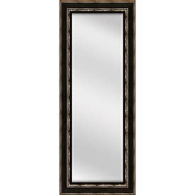 allen + roth 53.2-in L x 17.3-in W Oil Rubbed Bronze Beveled Wall Mirror