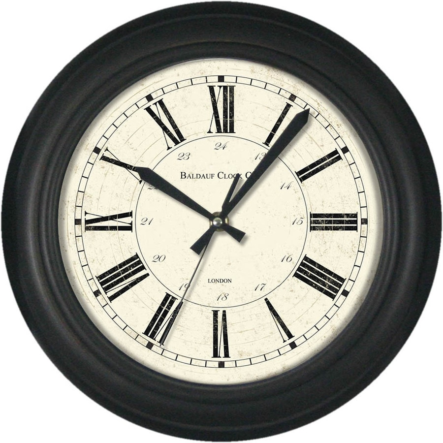 allen + roth Analog Round Indoor Wall Clock