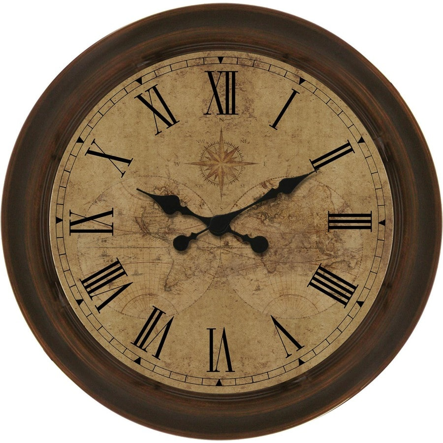 Shop clocks at lowes allen roth analog round indoor wall clock amipublicfo Image collections