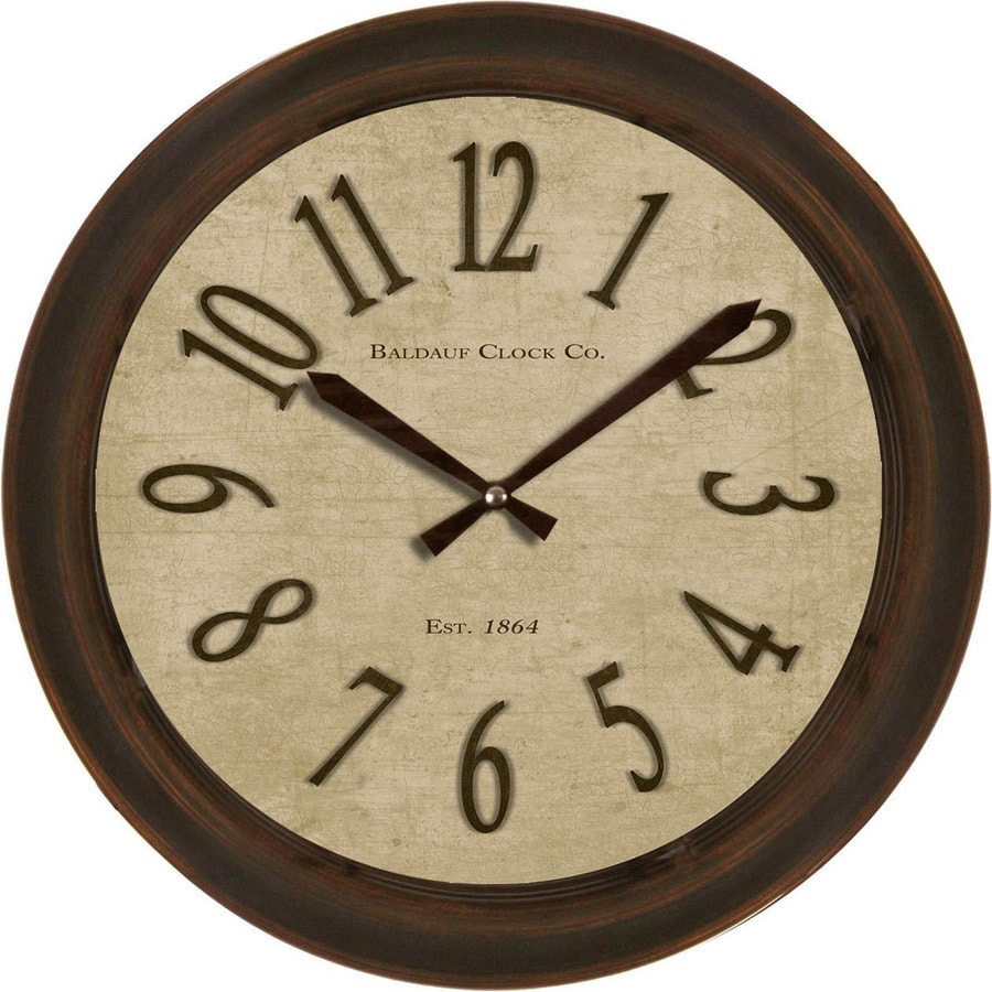 Shop clocks at lowes allen roth analog round indoor wall clock amipublicfo Images