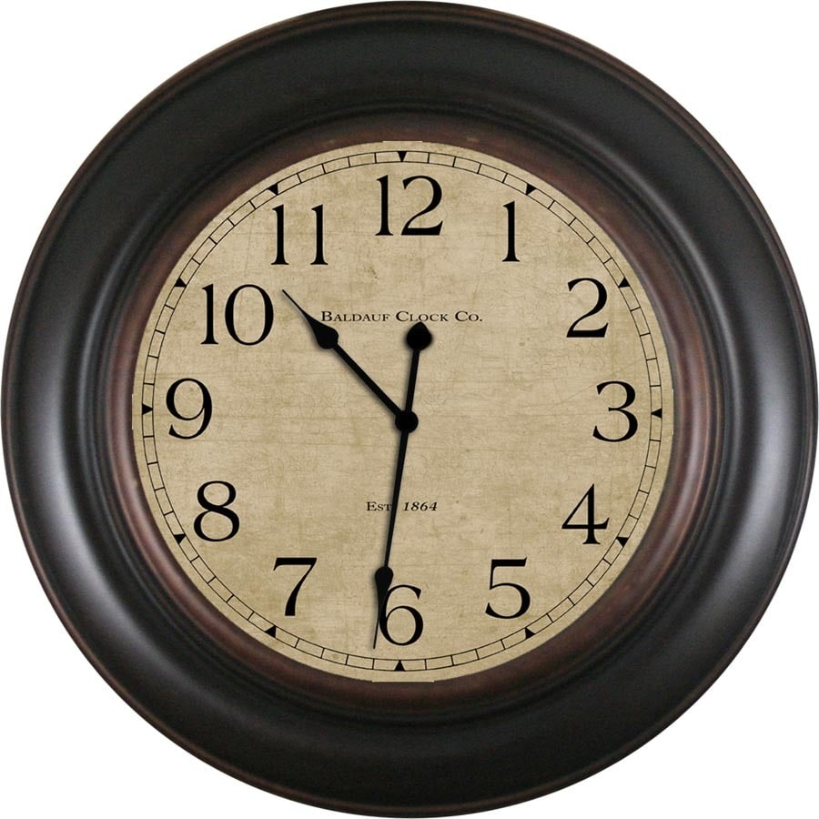 Shop clocks at lowes display product reviews for analog round indoor wall clock amipublicfo Choice Image