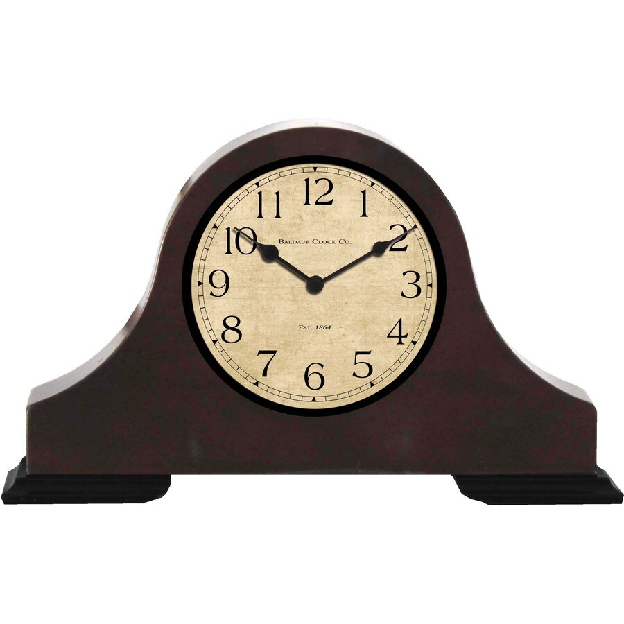 allen + roth Analog Rectangle Indoor Mantel Clock