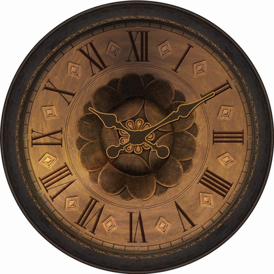 Allen Roth Analog Round Indoor Wall Clock At Lowes Com
