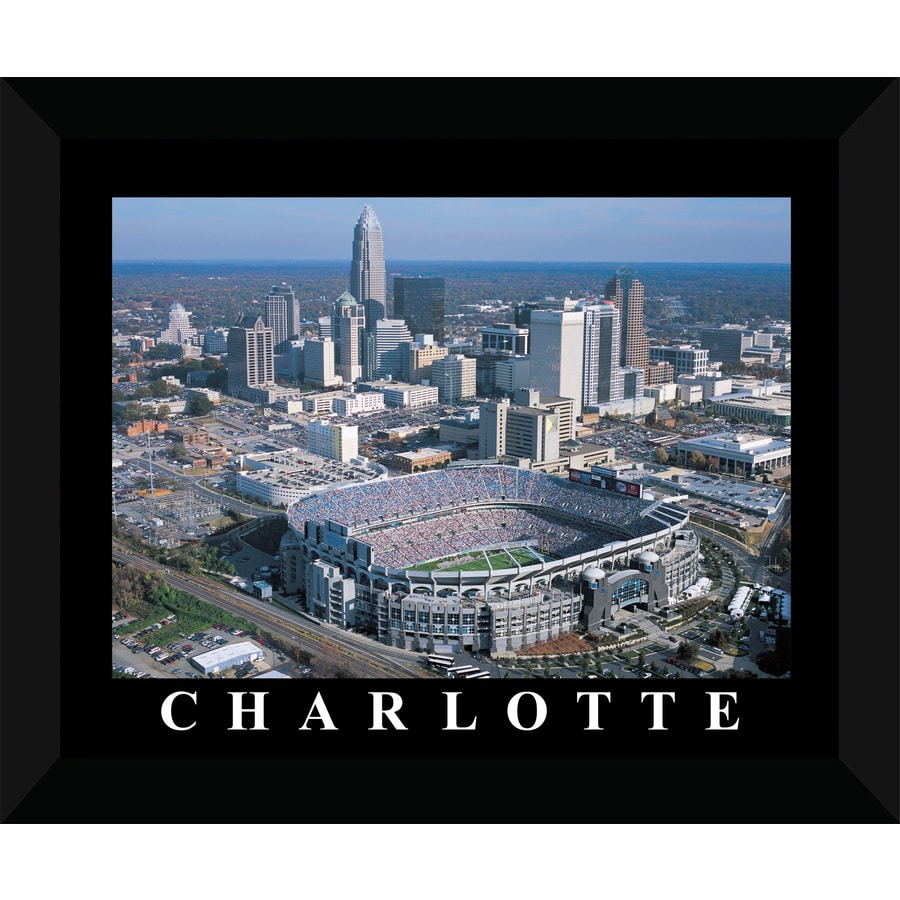 22-in W x 18-in H Framed Charlotte Wall Art