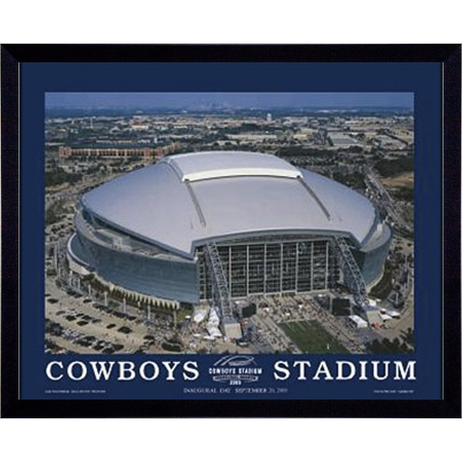 32-in W x 26-in H Cowboys Stadium Framed Art