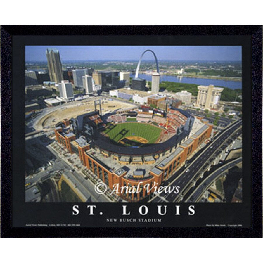 26 w x 32 h st louis cardinals framed wall art at lowes com