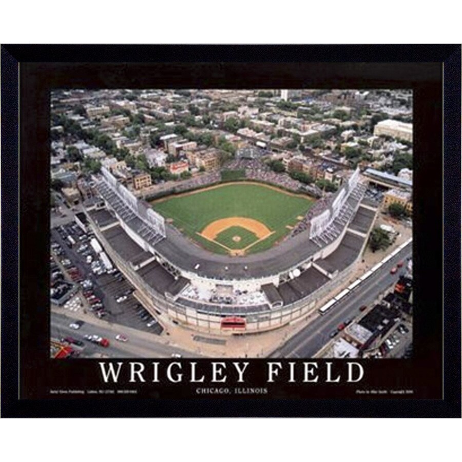 32-in W x 26-in H Wrigley Field Framed Art