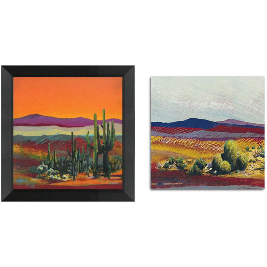 12-in W x 12-in H Desert Framed Art