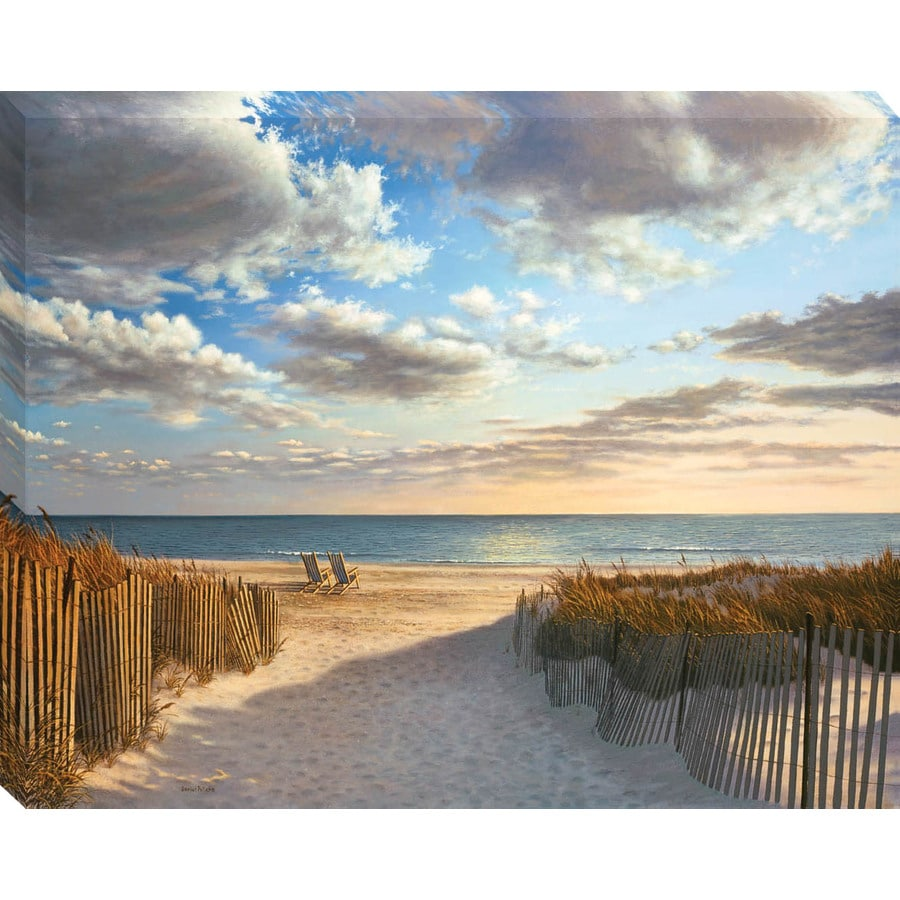 30-in W x 38-in H Beach Canvas