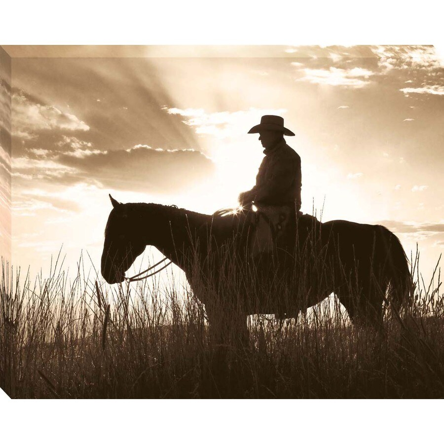 30-in W x 38-in H Horses Canvas