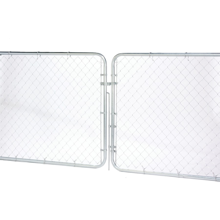 (Common: 6-ft x 10-ft; Actual: 5.79-ft x 9.58-ft) Galvanized Steel Chain-Link Fence Gate